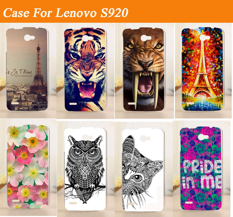 Fashion diy Painted Design <font><b>Case</b></font> <font><b>For</b></font> <font><b>Lenovo</b></font> <font><b>S920</b></font> Mobile Phone Hard Plastic Cover Back <font><b>Cases</b></font> <font><b>for</b></font> <font><b>Lenovo</b></font> <font><b>S920</b></font> image
