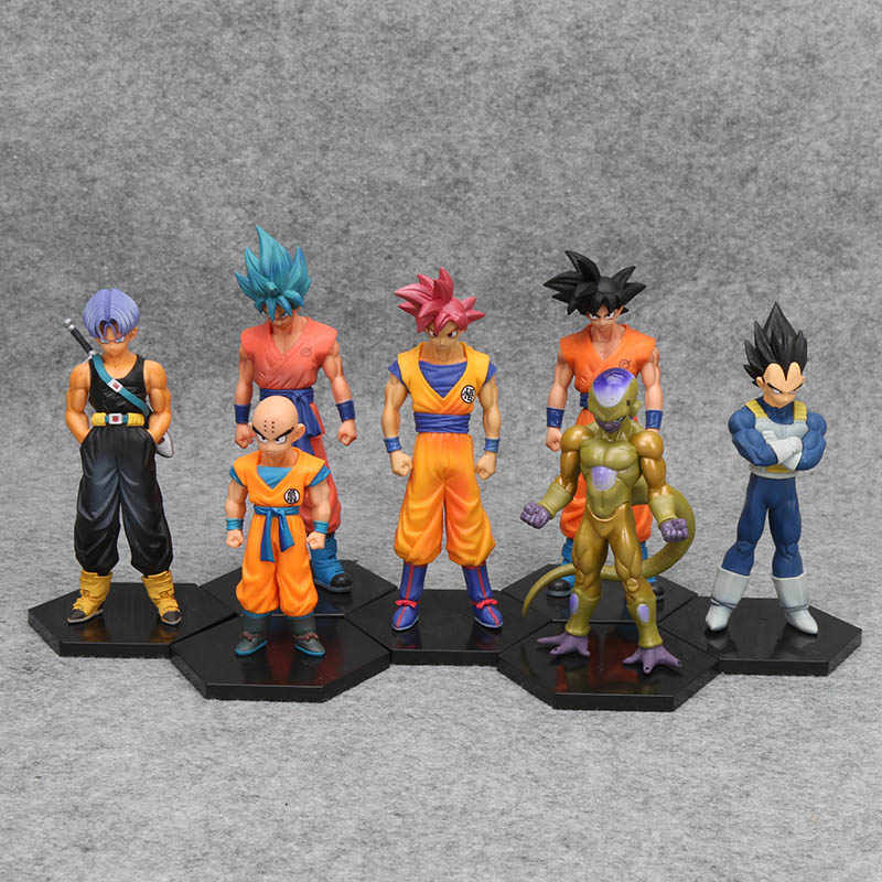 Dragon Ball Z Super Kuririn Vegeta Trunks Freeze Son Goku Gohan Piccolo Freeza Tien Shinhan Lunchi PVC Action Figures ของเล่น