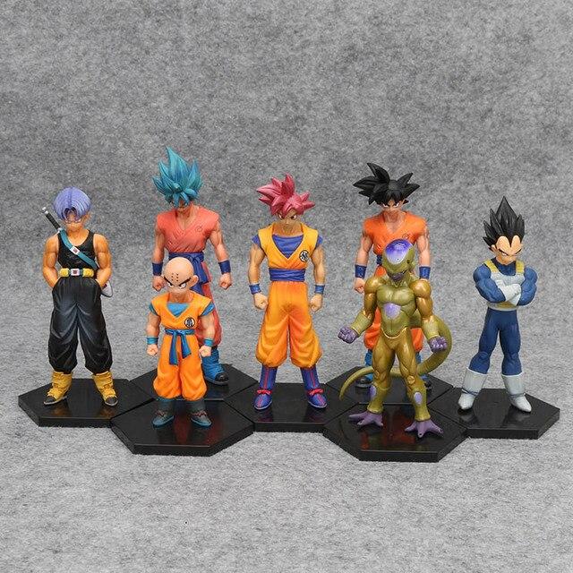 Dragon Ball Z Super krillin! Vegeta troncos congelar hijo de Goku Gohan Piccolo freezer Tien Shinhan Lunchi de acción   PVC figuras de acción Juguetes