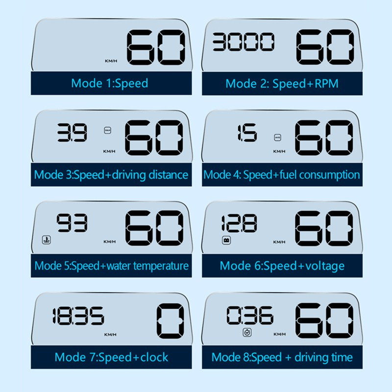 Image 3 - GEYIREN Original C500 OBD2 Hud Head Up Display With Mirror Projection Digital Car Speed Projector On Board Computer Fuel Mileage-in Head-up Display from Automobiles & Motorcycles