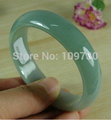 Chaude sell909170 Certifié Bonne Texture Icy Vert Clair Naturel Un Jade Jadéite Bracelet Braclet 55