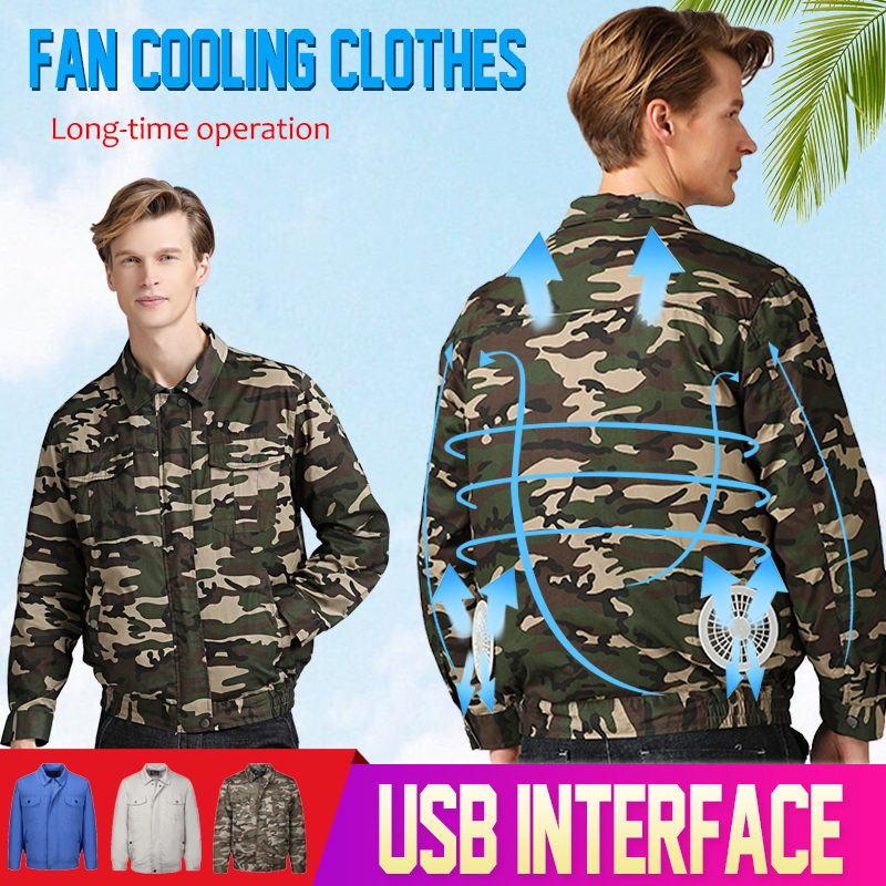 2019 Air Conditioning Jacket USB Cooling Conditioned Fan Jackets For High Temperature Outdoor Working Fishing Smart Clothes