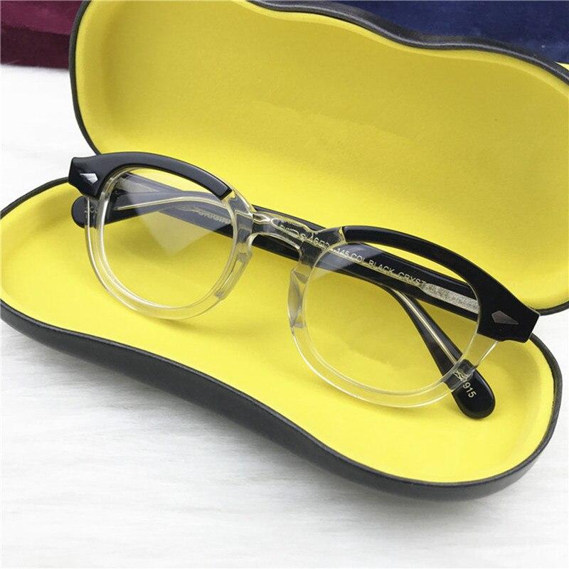 Rétro rond Johnny Depp lunettes optiques cadre hommes femmes Lemtosh ordinateur lecture lunettes optique Prescription marque design
