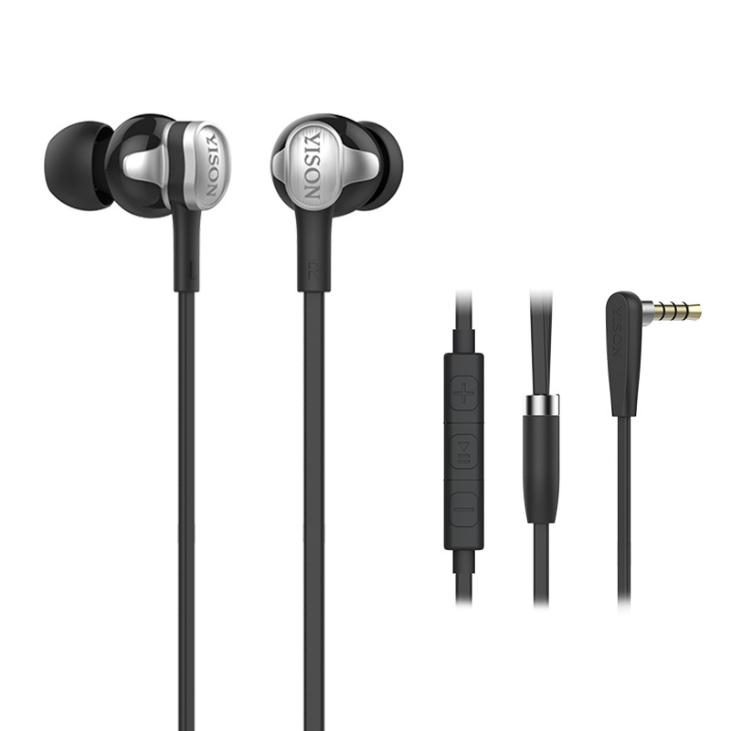 2017 YISON I80 factory direct HIFI earphone dual drive unit drawing in ear style Sport fashion new For Mobile Phone iPod гарнитура yison d7 black