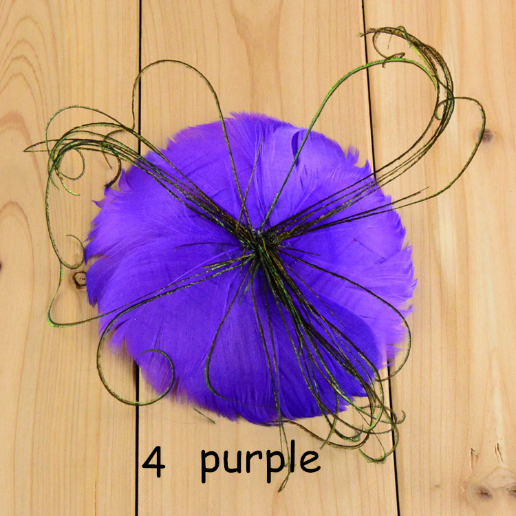 New Style 3.9 Round Feather Pads with Peacock Feather for Newborn Headband Accessories 20pcslot Free Shipping FH57