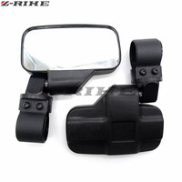2 Rearview Side View Mirrors For Can Am Maverick Cage For Kawasaki YAMAHA Polaris Ranger Can