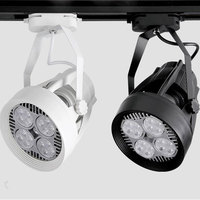 35W PAR30 Track Lighting Fan cooling E27 220V Track Lamp for Clothing store exhibition hall 10pcs