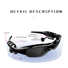 Buy Bluetooth 5.0 Earphone Fashion Sunglasses Headset X8S Polarized Headset Headphones Smart Glasses with Mic for Driving Outdoor directly from merchant!