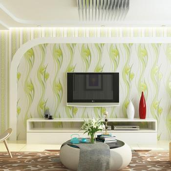 0.53x9.5M Romantic Pastoral Purple Flower 3d Wallpaper Living Room Tv Wall Green Thick Modern Bedding Room Wall Paper Roll