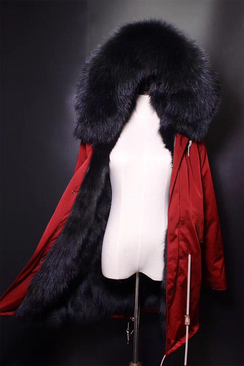 Importé Fourrure Renard De Personnalisé Femmes Manteau Mode Avec Capuchon Arlenesain 5Aw1qIt