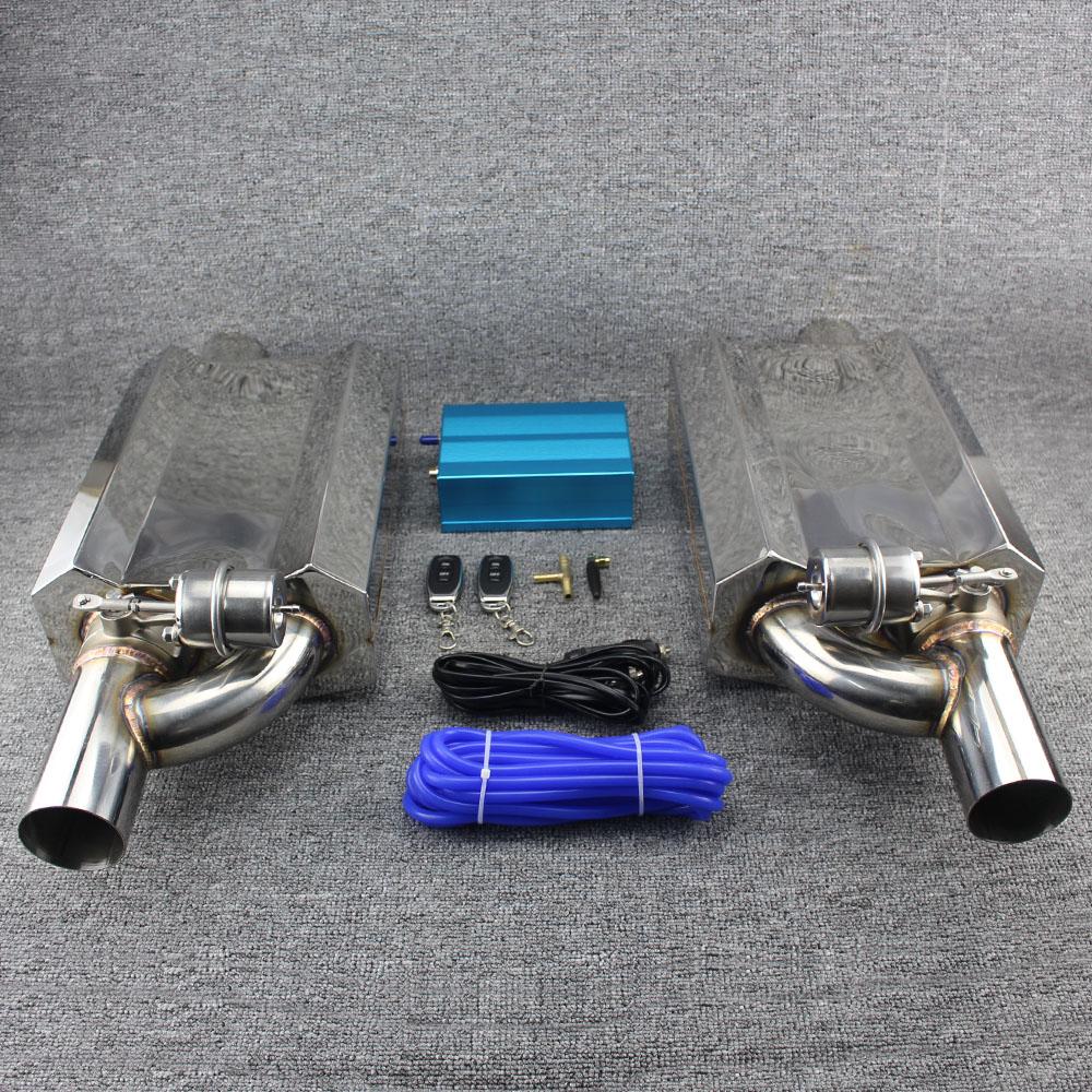 Il Nuovo 63 millimetri di Scarico In Acciaio Inox Sistema di Scarico Elettrico Ritaglio di Fuori Della Valvola Con Interruttore di Controllo Elettronico A Distanza tubo di scarico