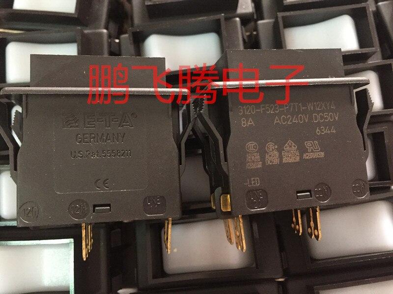 Originele nieuwe 100% 3120 F523 P7T1 W12XY4 8A hoge stroom tuimelschakelaar met LED 4pin 2 gear - 3