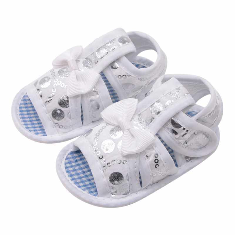 Verão Bebê Recém-nascido de Algodão Oco Menina Impresso Soft-Sola Das Sandálias Sapatos de Bebê Da Princesa