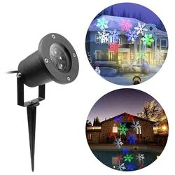 High Bright Colorful LED Christmas Light Outdoor Waterproof Snowflakes Festival Projection Lawn Lantern Stage Laser Lamp