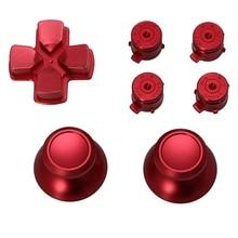 1 комплект металлический Dpad джойстик Крышка пули кнопки для sony PS4 контроллер комплект алюминиевый сплав
