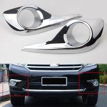 Принадлежности для шашлыков @ FUKA Chrome автомобилей передние противотуманные свет лампы обрамление чехла капота Toyota Highlander 2011 2012 2013 экстерьера автомобиля средства