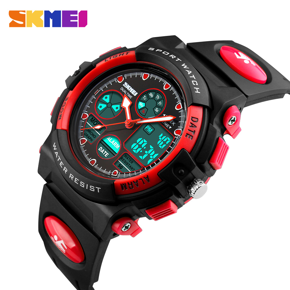 Skmei Fashion Children Watch Waterproof Multifunctional Outdoor Sports Kids Watches For Kids Girl Led Digital Wristwatches 2018 Watches