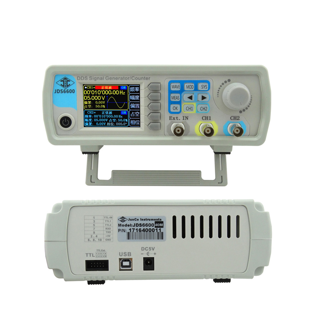JDS6600 60MHz Digital Control Dual-channel DDS Function Signal Generator frequency meter Arbitrary sine Waveform 34%ff seegers jesse agenda jds architects
