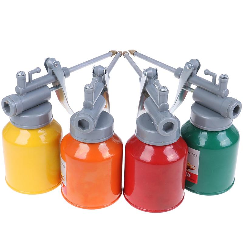 New Paint Spray Gun Oil Pump Cans Oiler Hose Grease Machine For Lubricating Airbrush Hand Tools Lubricator Repair Diy Kit 250ml