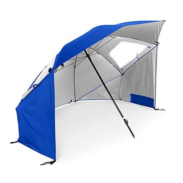 210d серебро Пластик Оксфорд открытый складной 1.2 м Рыбалка пляжный зонт Палатки УФ-защита ветрозащитный