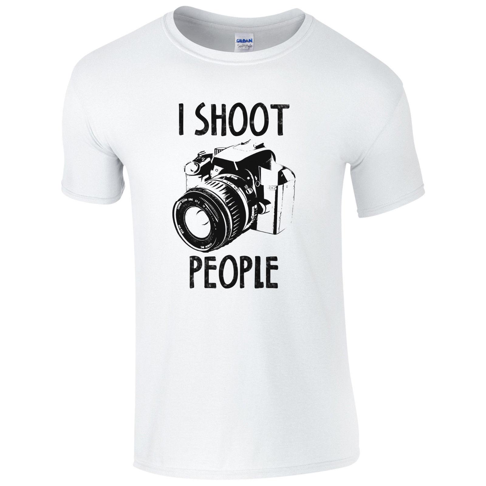 Я стрелять в людей футболка смешные фотографии Камера Pic фотограф подарок мужские Топ Ф ...