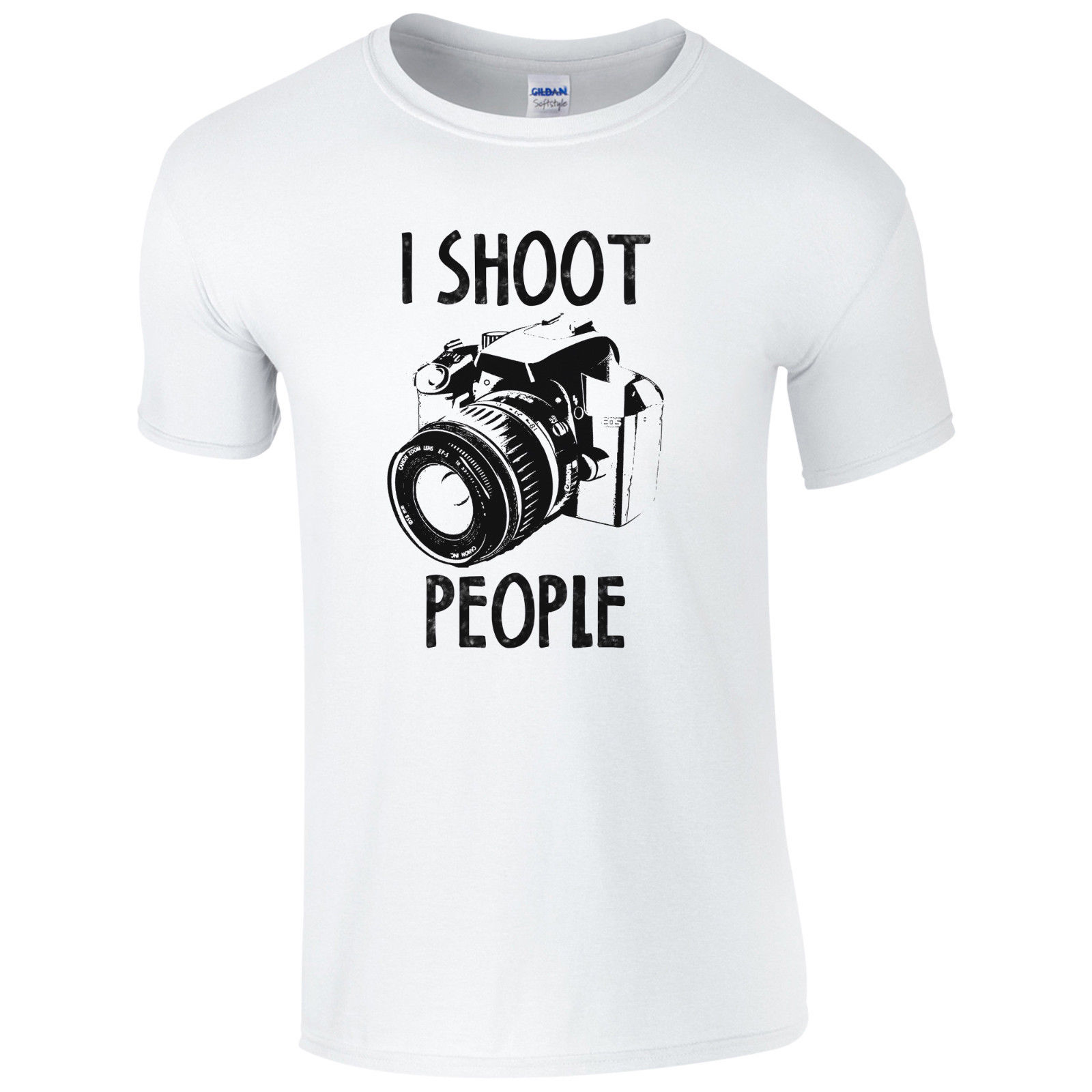 I Shoot People T-Shirt - Funny Photography Camera Pic Photographer Gift Mens Top Print T Shirt Mens Short Sleeve Hot
