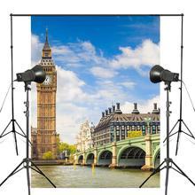 150x220cm Big Ben Photo Background London Architecture Backdrop European theme Photography Studio Props Wall