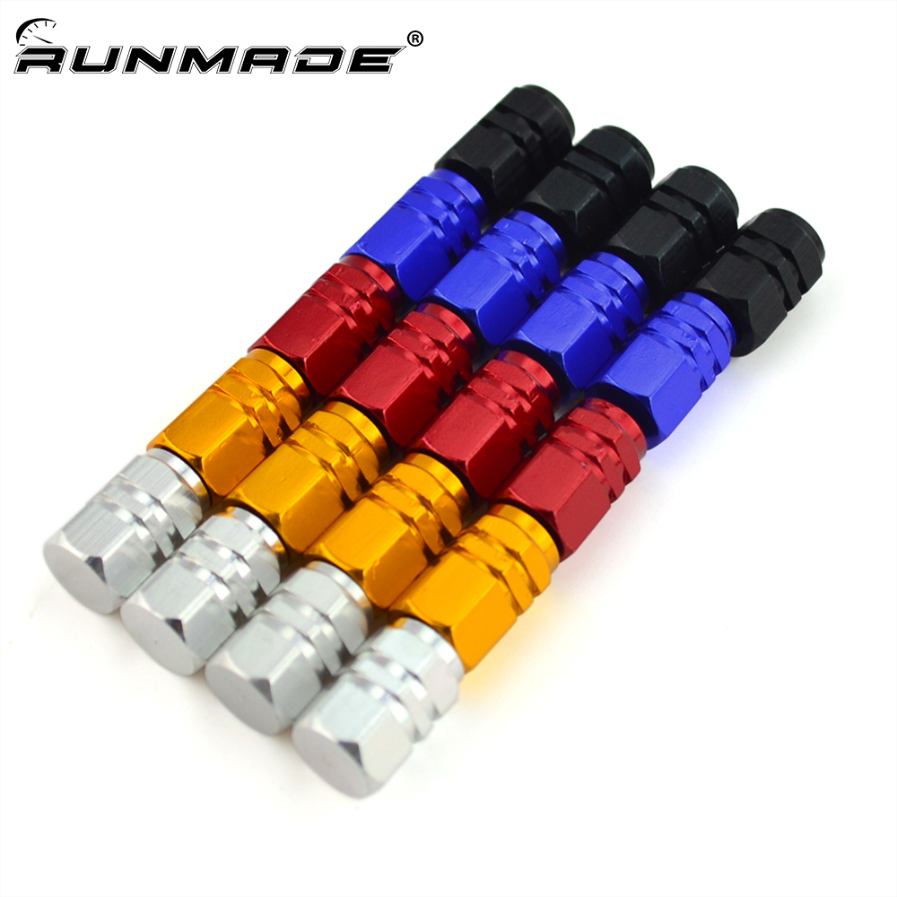 runmade 4pcs/pack Theftproof Aluminum Car Wheel Tires Valves Tyre <font><b>Stem</b></font> Air Caps Airtight Cover For Car Truck Motorcycle <font><b>Bike</b></font> image