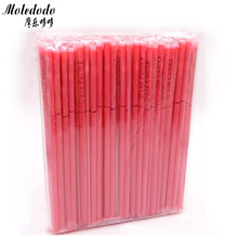 100Pcs/lot Rose Red Ear Wax Scented Candle Romantic Straight with Earplugs D50