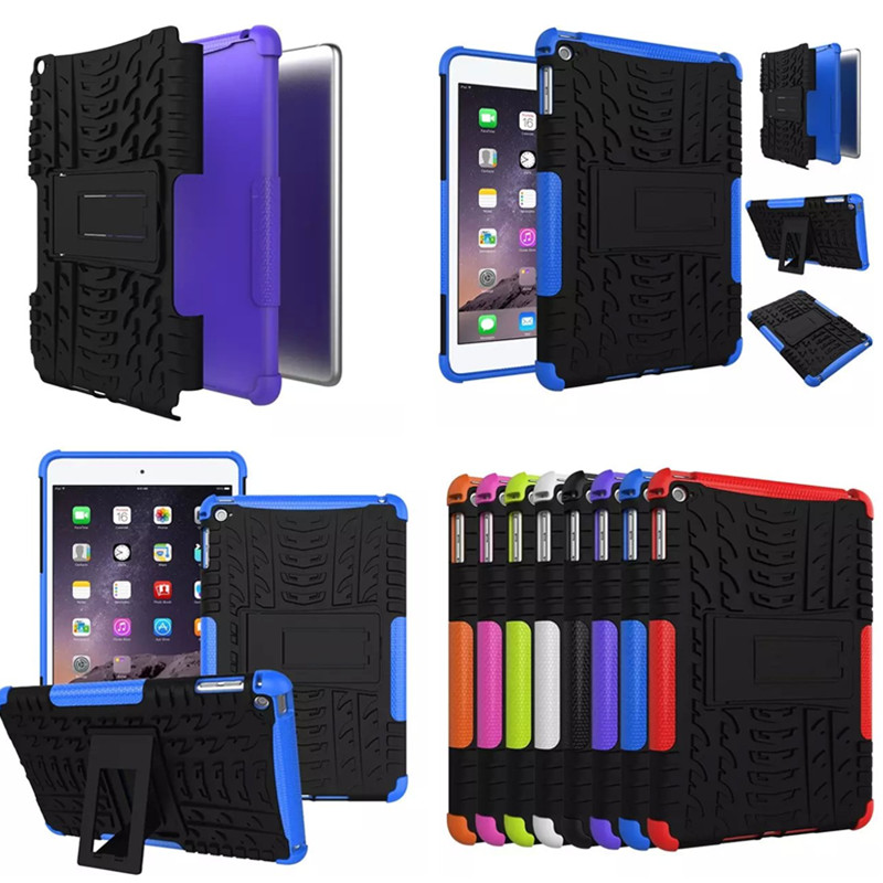HH-XW For iPad Mini 4 Case Soft TPU + Hard PC Heavy Duty Armor Stand Cover Case For Apple iPad Mini4 Tablet 2015 Shockproof