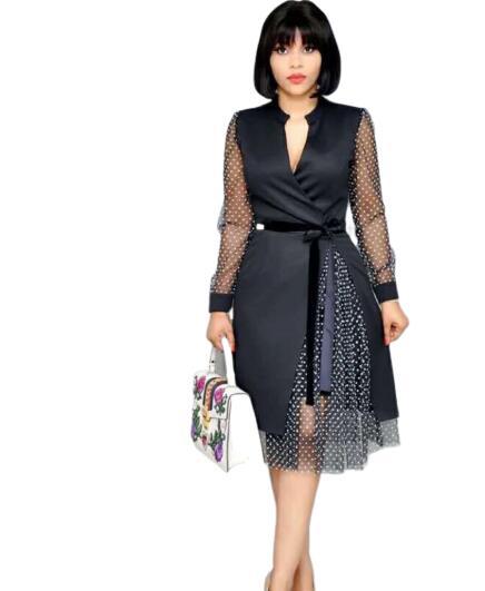 2019 New Elegent Fashion Style African Women Printing Plus Size Dress S-3XL