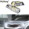 2 X T10 LED W5W Car LED Auto Lamp Light Bulbs With Projector Lens For Kia Sportage Cerato Soul Sorento Forte Carens K2 K3 Drl