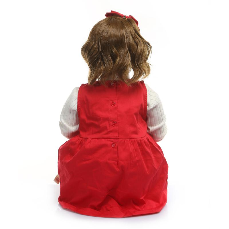 80cm de silicona de vinilo Reborn Baby Doll bebés realista muñeco de bebé Reborn s juguete ropa modelo niñas Brinquedos - 4
