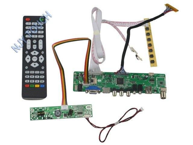 LA. MV56U. Um Novo Universal HDMI USB AV VGA ATV PC LCD Placa controladora para o Monitor de 18.5 polegadas 1366x768 MT185GW01 V.4 LED LVDS Kit