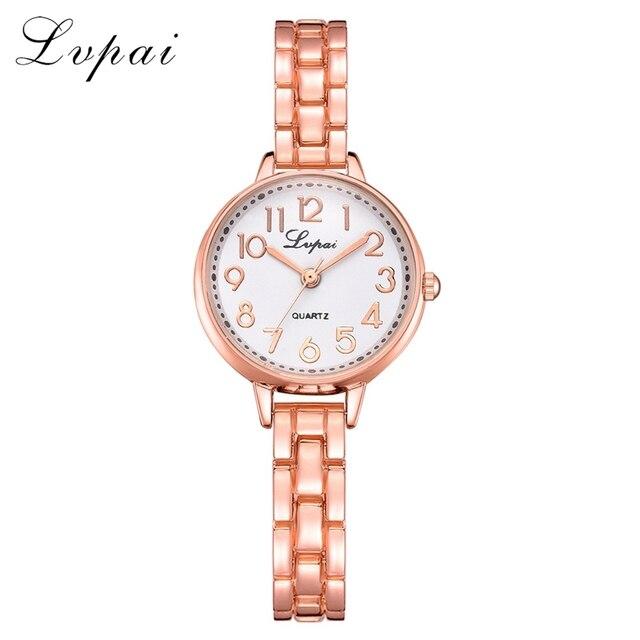 Fashion Women Watches Luxury Bracelet Quartz Wristwatch Lvpai Brand Watches Gold