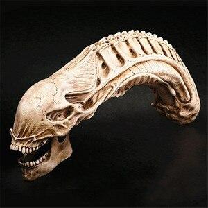 Artesanato avp predator vs alienígena 20*50cm grande estátua resina crânio esqueleto figura simulação modelo escultura animal para decoração