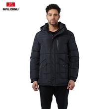 цены на MALIDINU 2019 Winter Men Down Jacket Thick Warm Down Coat Hooded Parka Feather Jacket White Duck Down Jacket European Size -30C  в интернет-магазинах