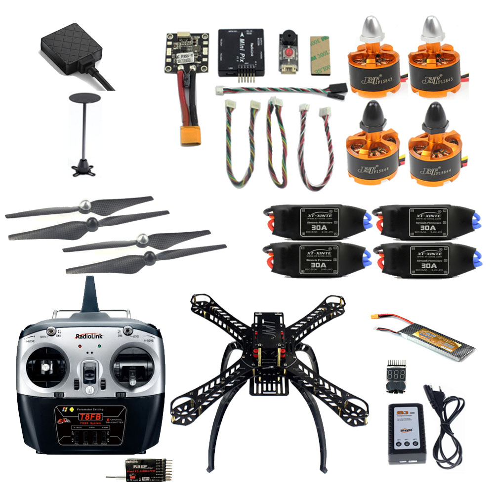 2.4G 8CH 360 Mini RC Airplane Unassemble DIY Quadcopter FPV Upgradable w/ Radiolink Mini PIX M8N GPS Altitude Hold