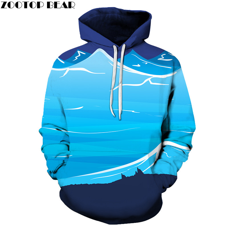 Anime Men Hoodies Couple Casual Sweatshirts Unisex Blue 3D Print Pullovers Rick and Morty Streetwears Brand Fashion ZOOTOPBEAR