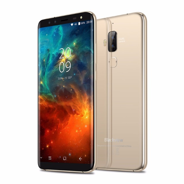Blackview S8 Four Cameras 18:9 Smartphone 4G RAM 64G ROM 5.7 Inch MT6750T Octa Core 1440*720 4G LTE Fingerprint OTG Mobile Phone