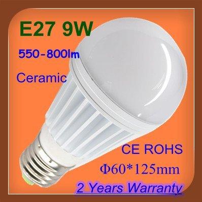 9W ceramic E27 300lm LED bulb light