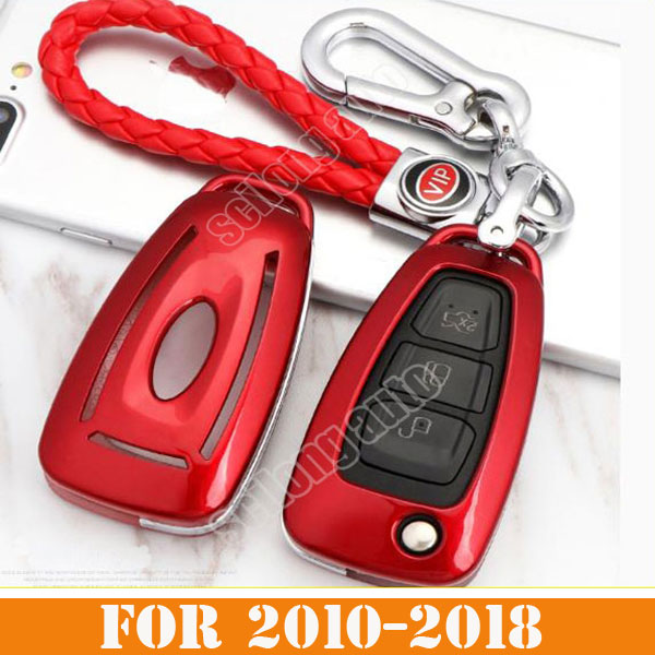 Abs Smart Remote Key Case Ring Shell Holder Cover For: Key Control Remote Abs Car Interior Accessories Key Rings