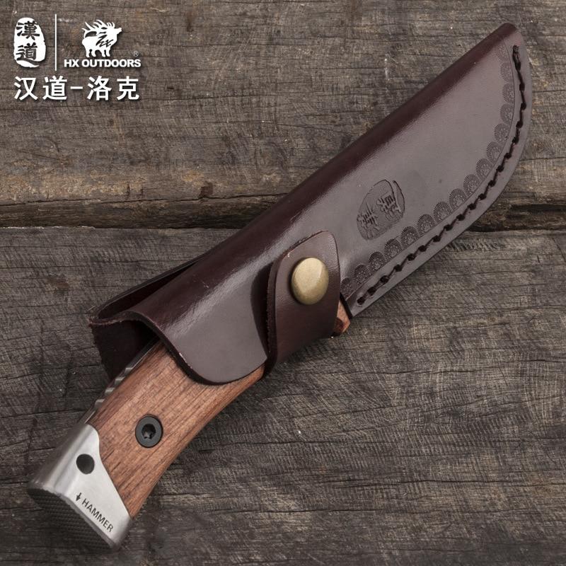 HX OUTDOORS Lok mango de madera táctico de alta dureza cuchillo - Herramientas manuales - foto 5
