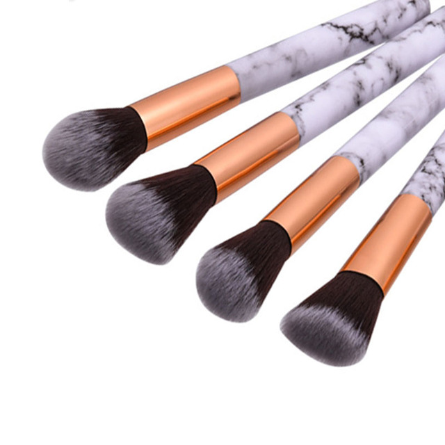 10pcsPromotions marbling texture brushes face foundation powder eyeshadow kabuki eye blending cosmetic marble makeup brush tool 1