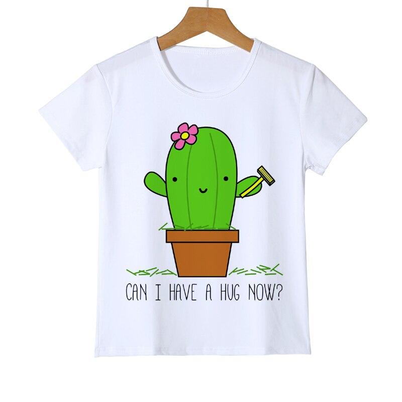 Забавные милый кактус для маленьких мальчиков и девочек футболки Летние Детская Весеняя одежда футболки с короткими рукавами Топы Детские ...