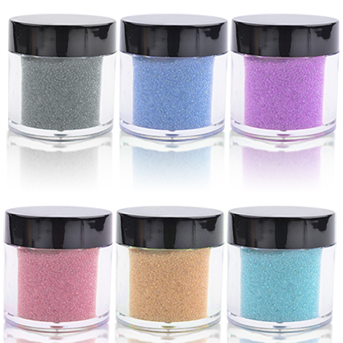Micro beads for crafting - 6pc Glass Craft Nail Glass Bead Glitter Wine Shinny Iridescent Micro Beads Dots Pots Balls Nail Art Gels Nail Art Floristry Dust