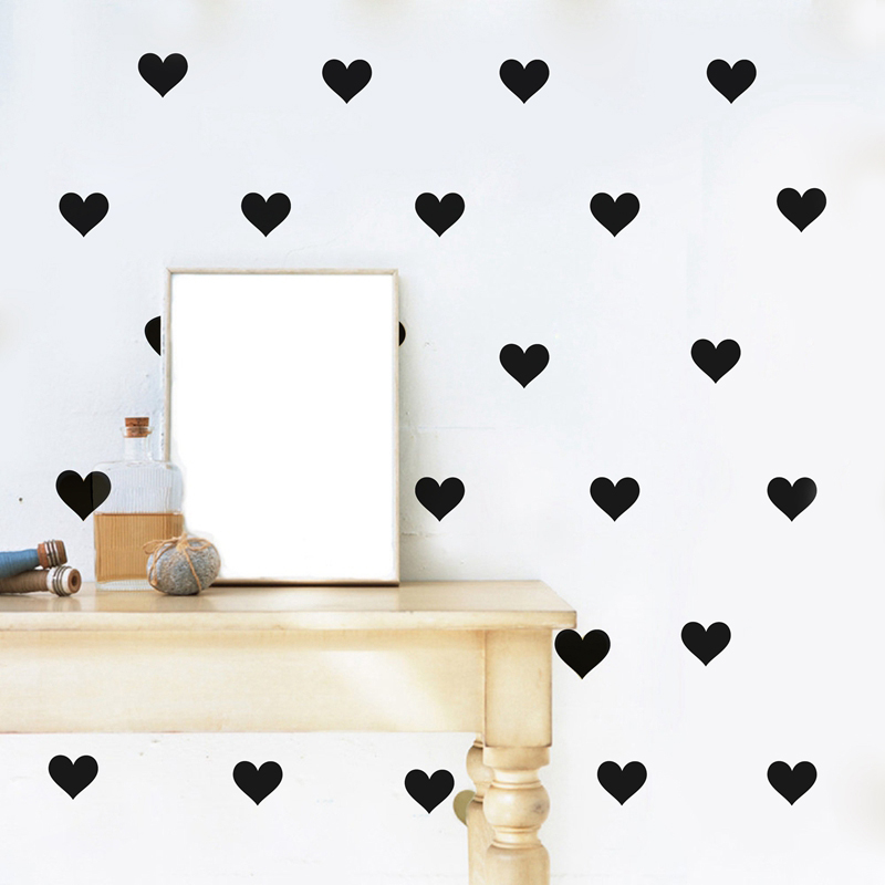 Mini Hearts Wall Stickers Little Hearts Wall Stickers Bedroom Decor