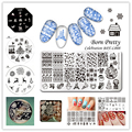 1Pc BORN PRETTY Nail Stamping Template Christmas Xmas Celebration Pattern Manicure Nail Art Image Plates Manicure Decoration