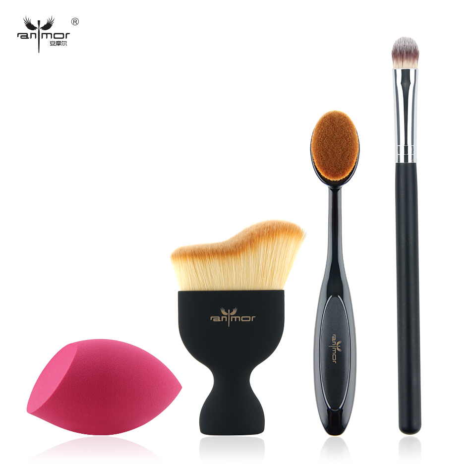 New Design Foundation Brush Kit 4 pcs Makeup Brushes Cosmetic Cream Powder Blush Makeup Brush Set 2018 new brand bicycle frame stickers mtb dh cycling road ride decals bike frame decorative decals racing diy name stickers
