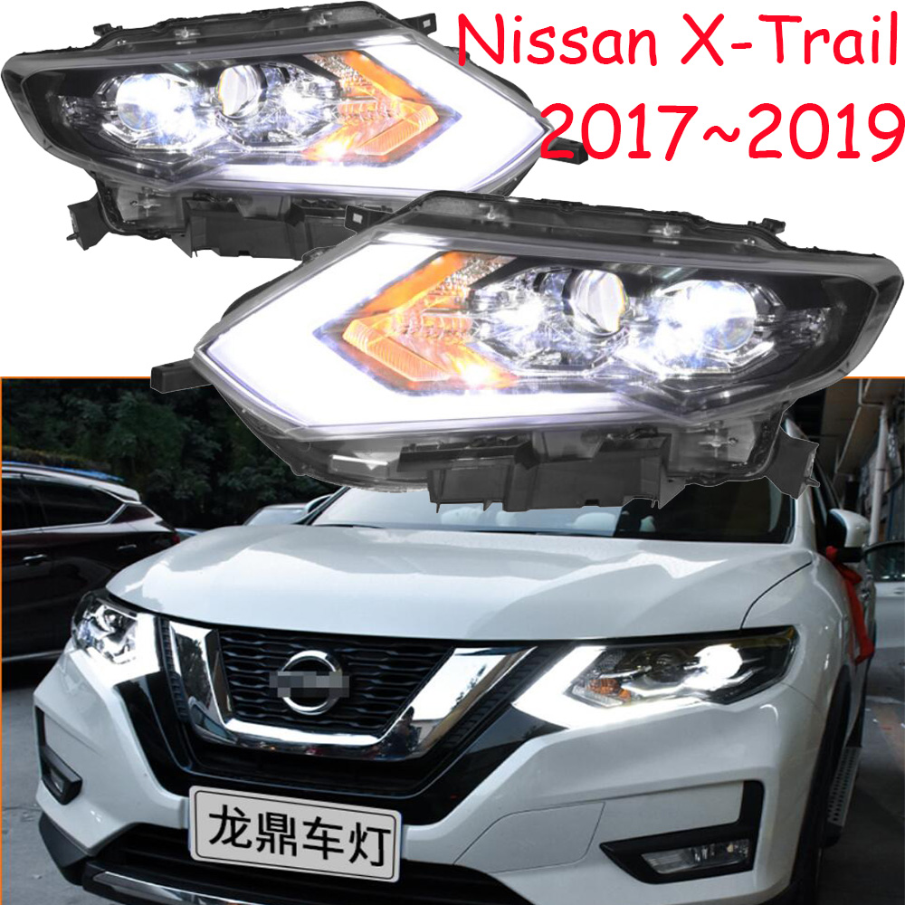 LED, 2017 ~ 2019, Car Styling, X-Trail Faro, Micra, Titan, versa, stanza, sentra, Tsuru, stagea, Rogue; X-Trail lampada capa, Rogue, X Trail